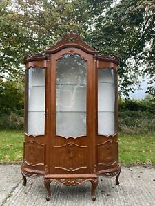 Reproduction French Style Armoire Glazed Display Cabinet Cupboard