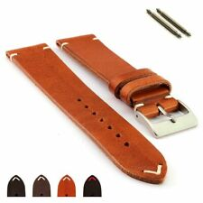 Two-Piece Genuine Leather Watch Strap Band 18 19 20 21 22 24 Mirage MM