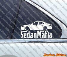 Lowered SEDAN MAFIA sticker - for Saab 9-3 Sedan 2002-2008