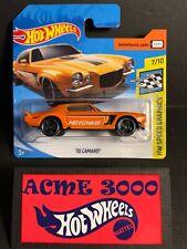 2018 Hot Wheels Orange 70 CAMARO HW Speed Graphics 7/10 SHORT CARD 346/365 828XO