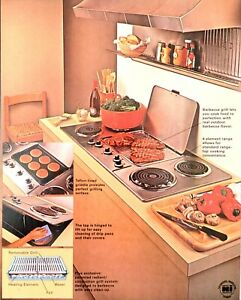 1979 Thermador Griddle Grill Teflon Barbecue Cook Range TMH45 Vintage Print Ad