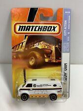 Matchbox Chevy Van City Services Water & Power Die-Cast Metal Van 2007 NOS
