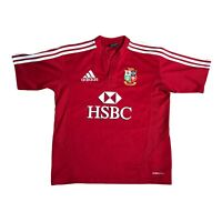 British Lions 2009 South Africa Tour Rugby Union Shirt Boys 13 - 14 Years Adidas