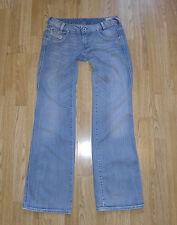 Blue Denim DIESEL INDUSTRY RYOTH-N Button Stonewashed Bootcut Jeans Sz W 30 L 33