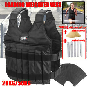 20/50kg Workout Weighted Jacket Vest Running Exercise Strength Fitness Training