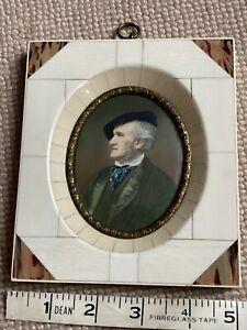 Miniature - Portrait - RICHARD WAGNER (2) signed