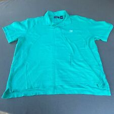 New listing Chaps Men Size 2XL Short Sleeve Collared Polo Pullover Shirt - Green