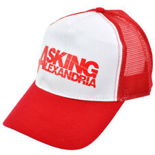 Official Hat ASKING ALEXANDRIA Red & White Band Baseball Cap One Size