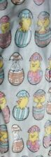 Chickadee cute egg  chicks & bunnies plush throw blanket 50x70