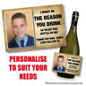 PERSONALISED THANK YOU WINE PROSECCO BOTTLE LABEL CHRISTMAS GIFT TEACHER 108