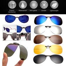 Sonnenbrille UV UVA Brillen Pol Aufsatz Clip On Polbrille Polarisiert Brille TOP