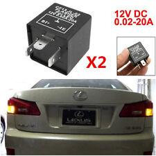 2X 3-Pin LED Flasher Relay For Car Turn Signal Lights Hyper Flash Fix CF13 JL-02