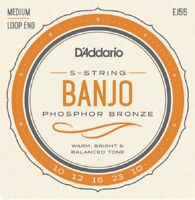 D'Addario EJ55 5 String Banjo Philosopher Bronze Medium 10-23 j55