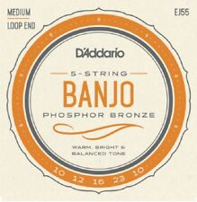 D'Addario EJ55 5 String Banjo Philosopher Bronze Medium 10-23 j55