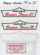 Rover Super Four Vintage Rotary Mower Repro Decals