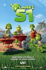 PLANET 51 MOVIE POSTER Original DS 27x40 Animation Film 2009 Dwayne Johnson