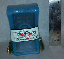 Monopoly Money to Burn Candle Collectible Factory Sealed + 3 token NEW 1999 blue