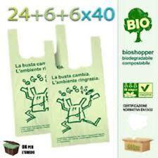 500 Shoppers Biodegradabili 24x40 Mini Sacchetti a Norma Buste Spesa