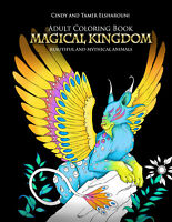 """Magical Kingdom: Mythical and Beautiful Animals""  Adult Coloring Book"