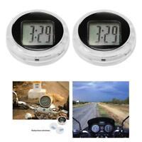 Mini Waterproof Motorcycle Digital Clock Watch w/ Stick Motorbike Time