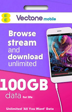 Vectone EE 100GB Data Sim Powered by EE 4G for Unlock Tablets, Mobiles & Dongles
