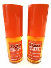 2 JOVAN MUSK by Jovan COLOGNE SPRAY 1OZ  UNBOXED