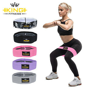 Non Slip Fabric Hip Resistance Exercise Bands Glute Leg Squat Yoga Booty Bands