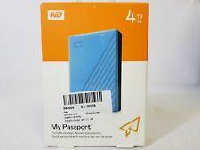 WD My Passport 4TB External USB 3.0 Portable Hard Drive Blue