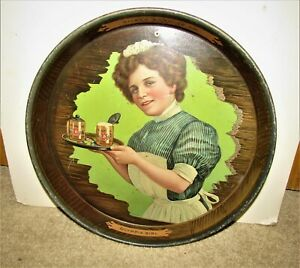 pre-pro OLYMPIA beer GIRL tray  PILSEN BREWERY, CHICAGO, ILLINOIS