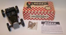 New In Box 1950's Rodzy Gas Powered Hot Rod Model Tether Car W/Extras