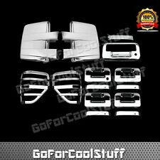 09-14 FORD F150 Chrome Mirror+4 Door w/o Key Pad+Tailgate+Tail Light Bezel Cover
