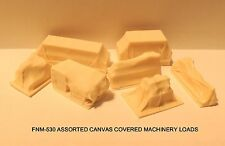 CANVAS COVERED MACHINERY LOADS/DETAILS - N SCALE: FNM-530