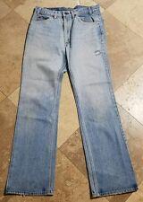 Vintage Levis 517-0217 34x34 Light Wash Red Tab Jeans Pants