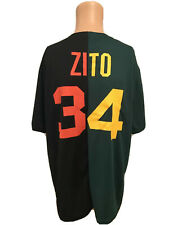 Sacramento River Cats Barry Zito SGA Split Dual Jersey A's Giants #34 Size XL