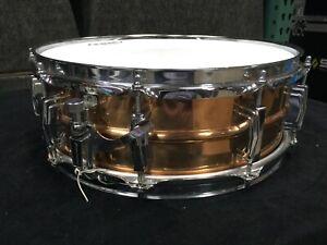 "Ludwig 14x6,5/"" Supra Phonic Bronze Snare Drum USA LB552KT Tube Lugs Gehämmert"