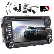 "Volkswagen VW Car Stereo DVD GPS Navigation Radio Bluetooth 7"" 2 Din+Map+Camera"