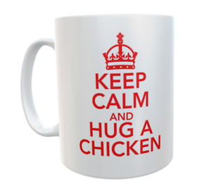 Chicken Mug Keep Calm And Hug A Novelty Retro Cute Cup Owner Gift Present