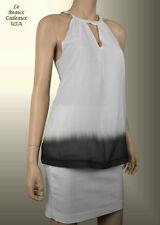 NEW$49.9 BANAN REPUBLIC Women WHITE BROWN Sheer  PETITE SMALL PS Top Tank Blouse