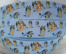 """BLUEY characters 2 Metres 1"""" 25mm Grosgrain Ribbon Cake Clip Craft"""