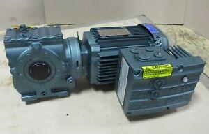 Sew Eurodrive SA47 DRE80M4 MM11 Gear Motor 8.6-43 RPM Out, 1 HP, 1185 Lb-In