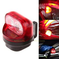 Bike Cycling Friction Generator Dynamo Rear Tail Light Set Safety Red Back Light