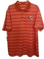 MIAMI DOLPHINS Nike Golf Tour Performance Dri-Fit polo golf shirt XL