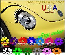 CAR Eyelashes Lowers Brow Eyeball for headlight Volkswagen 2011 12 13 14 15 2016