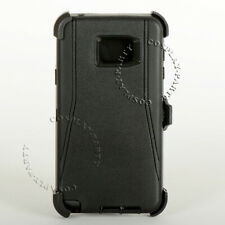 Samsung Galaxy Note 5 Defender Hard Shell Case With Holster Belt Clip - Black