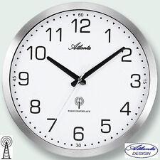 Atlanta 44 Radio Reloj De Pared Plata oficina FÁBRICA Metal cocina 357