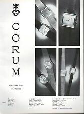 ▬► PUBLICITE ADVERTISING AD MONTRE WATCH CORUM 1966
