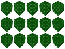 5 Sets Harrows Dimplex Standard Dart Flights - Solid Green - 15 Flights