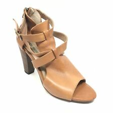Women's Steve Madden Spriing Strappy Sandals Shoes Size 9.5 M Brown Leather A6