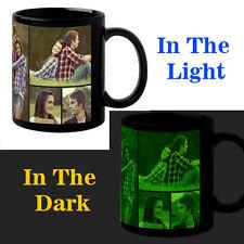 Black Glow In Dark Personalized Customized Photo Coffee Mug Birthday Gift