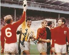 Hand Signed 10x8 GORDON BANKS & ROGER HUNT - ENGLAND 1966 World Cup + my COA